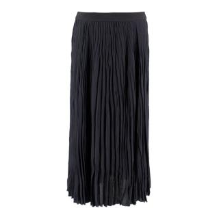 Elizabeth and James Navy Pleated Midi Skirt