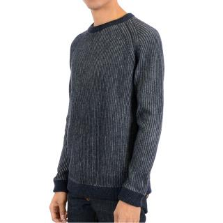 Nudie Jeans Aron Two-Tone Knit Wool-Blend Sweater