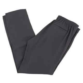 Vanessa Bruno Grey Crepe Pleated Waistband Trousers