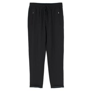 Stella McCartney Black Tapered Track Pants
