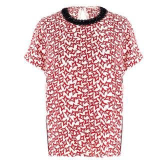 Schumacher Red & White Star Print Top