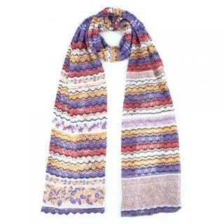Missoni Multicoloured Fine-Knit Scarf
