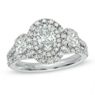 Vera Wang Love collection 3 stone Oval ring