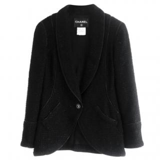 Chanel Paris-London Zip-Trimmed Fantasy Tweed Black Jacket