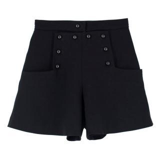 Isabel Marant Black Button Shorts