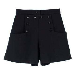 Isabel Marant Black Button Shorts