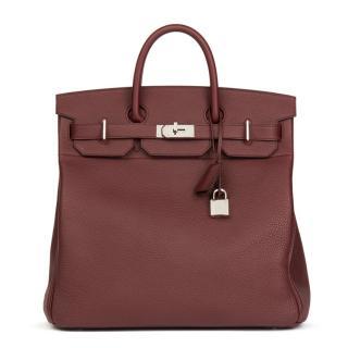 Hermes Bordeaux Togo Leather 40cm Birkin Bag