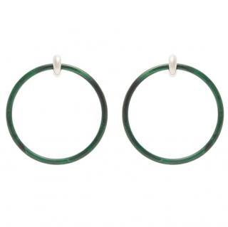 Balenciaga large hoop earrings