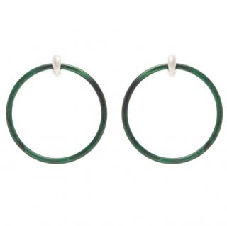 Balenciaga large hoop earrings