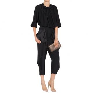 Stella McCartney Layton Ruffle-Trimmed Cropped Trousers