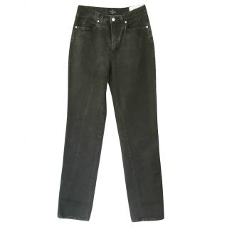 Trussardi black washed jeans