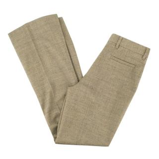 Mu Miu Bootcut Wool Trousers