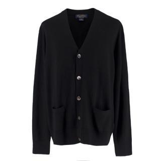 Brooks Brothers Black Wool Cardigan
