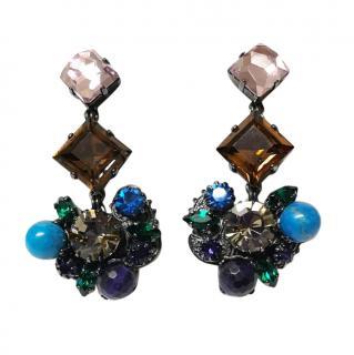 Vicki Sarge Crystal Dangle Earrings