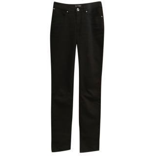 Armani black straight-leg jeans