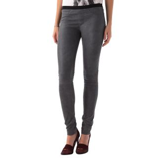 Helmut Lang Grey Stretch Fitted Trousers