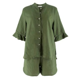 Sleeper Green Linen Pyjama Set