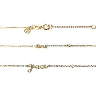 Sydney Evan Gold Vermail Diamond Necklace & Bracelet