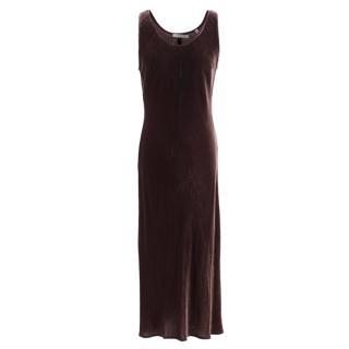 Vince Plum velvet tank dress