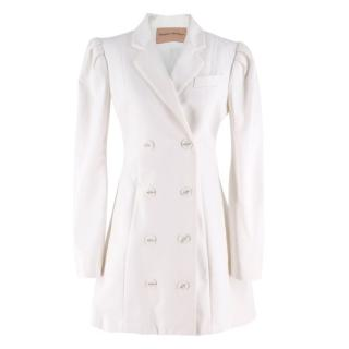 Maggie Marilyn White Double Breasted Coat