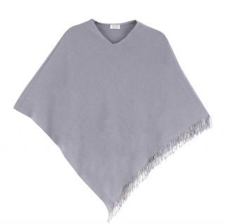 Bespoke Grey Cashmere Poncho