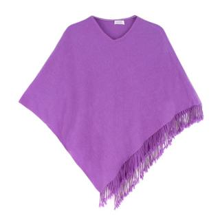 Bespoke Purple Cashmere Poncho