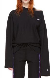 Vetements x Champion Black Cut Out Sweatshirt