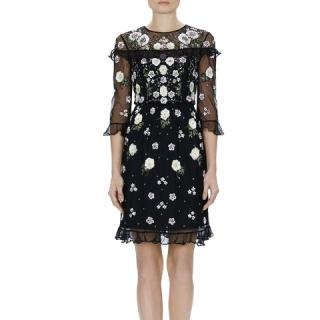 Needle & Thread Embellished Floral Frill Dress