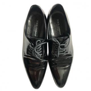 Dolce & Gabbana Black Patent Brogues