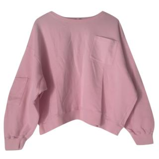 MSGM Pink cropped sweatshirt