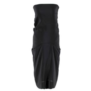 Vivienne Westwood Strapless Black Draped Dress