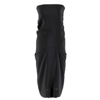 Vivienne Westwood Strapless Black Draped Dress