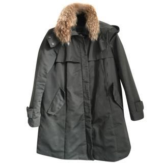 Max Mara fur-trimmed hooded parka jacket