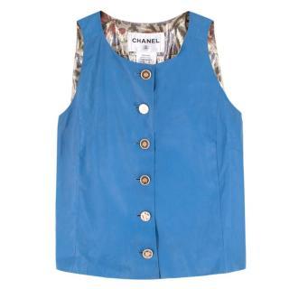 Chanel Blue Lambskin Vest