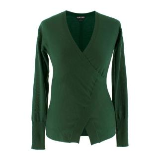 Tom Ford Green Cashmere Wrap Jumper
