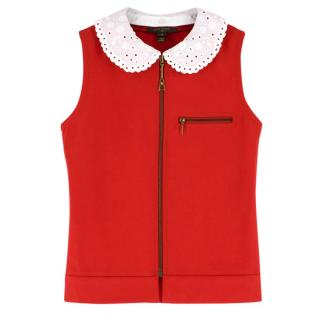 Louis Vuitton Detachable Monogram Crochet Collar Zippered Vest