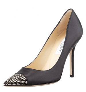 Jimmy Choo Amika Studded Cap-Toe Pumps