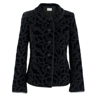 Caroline Charles Velvet Embroidered Jacket