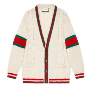 Gucci oversized knit wool cardigan