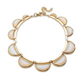Lele Sadoughi Gold plated Stone Scalloped Necklace