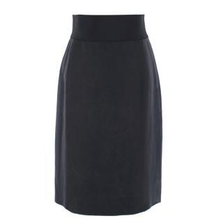 Lanvin Dark Grey Midi Skirt