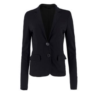 Etro Black Lightweight-Jersey Blazer