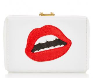 Mark Cross Grace lips clutch bag