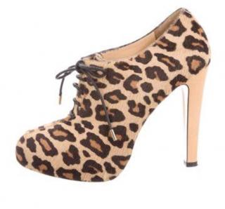 Charlotte Olympia Leopard Print ankle boots
