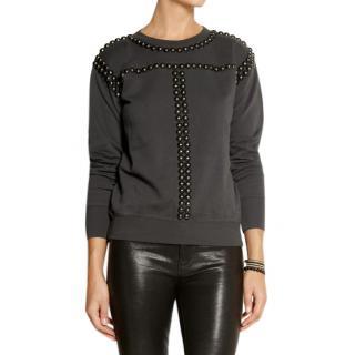 Isabel Marant studded cotton sweatshirt