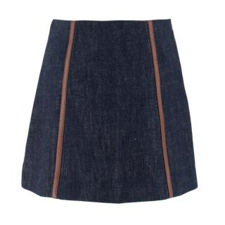 Prada Blue Denim Mini Skirt
