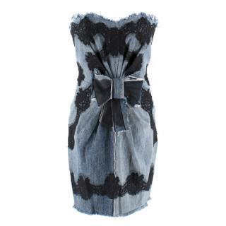 Dolce & Gabbana Denim & Lace Mini Dress
