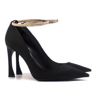 Christian Dior Ankle-Bracelet Satin Pumps
