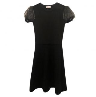 Red Valentino mesh-insert black dress