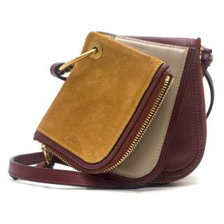 Chloe Triple-Pouch Suede Cross-Body Wallet
